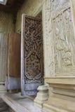 för thailand för tempel för phra för bangkok buddha smaragdkaew träfönster wat royaltyfri bild