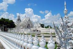 för thailand för tempel för uppgift för rong för rai för khun för härlig chiang för konstdragningar kulturell fin white wat Royaltyfri Fotografi