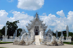 för thailand för tempel för uppgift för rong för rai för khun för härlig chiang för konstdragningar kulturell fin white wat Arkivfoton