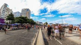 För Tid för fot- trafik för stad Rio de Janeiro schackningsperiod stock video