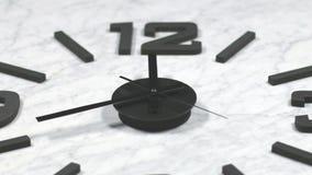För Tid för klocka som snabbt rörande schackningsperiod zoomas framåtriktat arkivfilmer