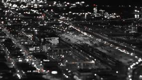 För Tid för Seattle stadstrafik förskjutning för lutande för natt schackningsperiod stock video