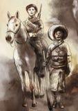 För tid i Mexico - en hand målade illustrationen vektor illustrationer