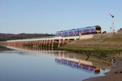 för tidedrev för arnside hög renovering viaduct Arkivfoto