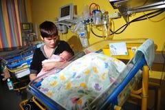 För tidigt spädbarn arkivfoton