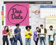 För tidsbeställningsdag för förfallet datum begrepp för händelse viktigt arkivbilder