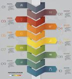 för Timelinepil för 10 moment infographic beståndsdel infographicsbeståndsdel för 10 moment 10 eps Royaltyfri Foto