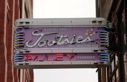 För Tootsiesorkidé för värld den berömda vardagsrummet, i stadens centrum Nashville Tennessee fotografering för bildbyråer