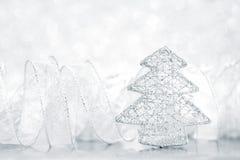 för toytree för bakgrund jul isolerad white Royaltyfri Fotografi