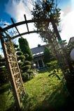 För trädgårdträdgård för sen sommar sikt Fotografering för Bildbyråer