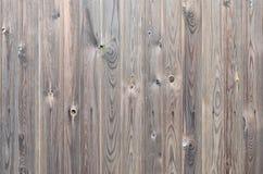 För träpanel för gammal grunge mörk brun modell med härlig abstrakt kornyttersidatextur, vertikal randig bakgrund eller bakgrunde royaltyfri bild
