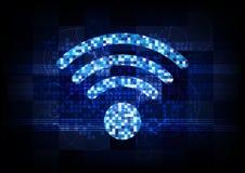 För trådlös teknologi för anslutning teckeninternet för PIXEL digital Royaltyfri Fotografi