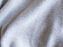 för tröjabakgrund för textur grått tyg Arkivfoton