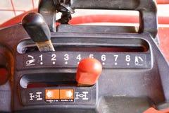 För traktorväxelspak för tre hastighet knopp royaltyfria foton