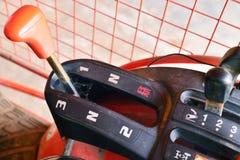 För traktorväxelspak för tre hastighet knopp royaltyfri foto