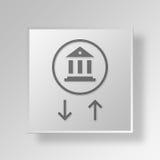 för transaktionssymbol för bank 3D affärsidé Royaltyfria Bilder