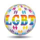 För transgenderrätter för LGBT lesbisk glad bisexuell symbol för värld för gemenskap Royaltyfri Fotografi
