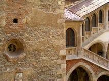 För transylvania för Corvin slotthunedoara gotisk historia huniazilor royaltyfri fotografi