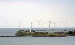 För Trekoner för vindturbiner Köpenhamn Tom Wurl fort Fotografering för Bildbyråer