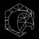 F?r triangelblockchain f?r C geometrisk stilsort arkivfoto