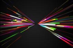För triangelfjäril för regnbåge rak Shape linje glödmörkerbakgrund vektor illustrationer