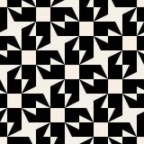 För triangelfyrkant för vektor geometrisk modell för sömlös svartvit rundad stjärna Royaltyfria Foton