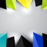 För triangelgarnering för gräns färgrika beståndsdelar royaltyfri illustrationer