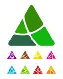 För triangellogo för design abstrakt beståndsdel Fotografering för Bildbyråer
