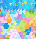 För triangelprick för pastellfärgad färg bakgrund vektor illustrationer