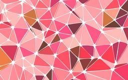 För triangelrosa färger för glamour polygonal bakgrund Arkivbilder