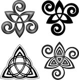 För triskelsymboler för vektor celtic uppsättning Royaltyfri Bild