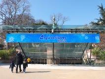 För Trocadero för Paris akvariumingång arrondissement trädgårdar 16 Arkivbilder