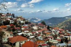 by för troodos för cyprus bergpedoulas Arkivbilder