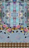 För tryckfärger för blommor djurt tryck för design för blått arkivbilder