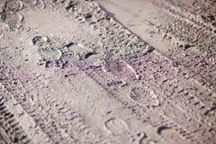 för tryckskon för mud smutsar lerig shoeprint Arkivbild