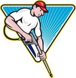 För tryckvatten för ström tvättande arbetare för Blaster vektor illustrationer