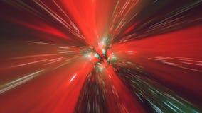 För tunnelmaskhål för virvel snedvrider hyperspace tid och utrymme, animering för sciencebakgrund 3D stock illustrationer