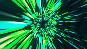 För tunnelmaskhål för virvel snedvrider hyperspace tid och utrymme, animering för sciencebakgrund 3D royaltyfri illustrationer