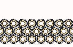 För tusenskönablomma för djärv hand utdragen geo för täcke Sömlös bakgrund för vektorgränsmodell Geometrisk abstrakt illustration stock illustrationer