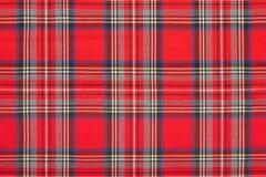 För tygtextur för röd tartan skotsk bakgrund Fotografering för Bildbyråer