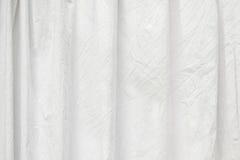 För tygvikning för skrynkla specificerad vit textur fotografering för bildbyråer