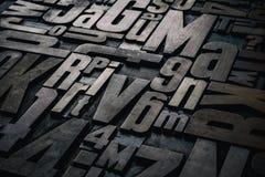 För typprinting för boktryck wood kvarter Royaltyfri Fotografi