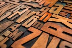 För typprinting för gammal boktryck wood kvarter Royaltyfria Foton