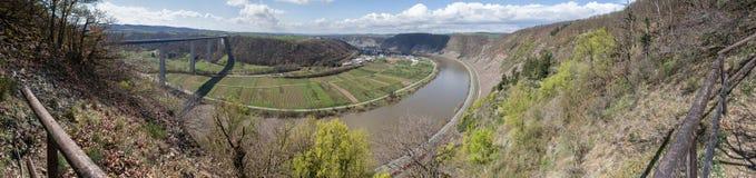 för Tyskland för moseltal dal panorama hög definition Fotografering för Bildbyråer