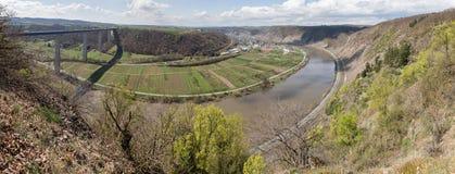 för Tyskland för moseltal dal panorama hög definition Arkivfoton