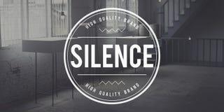 För tystnad fridsamt stillsamt för Quietness tyst begrepp fortfarande Royaltyfri Bild