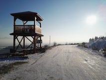 för ukraine för molodabergsun vinter sikt royaltyfria foton