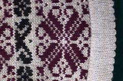 För ullrät maska för textur naturlig modell Arkivfoto