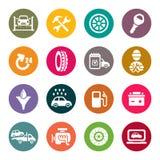 För underhållssymbol för bil tjänste- uppsättning royaltyfri illustrationer