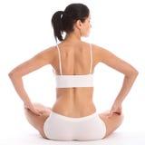 för underkläderkvinna för back fit sittande barn Royaltyfri Fotografi